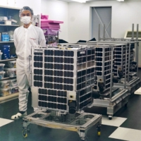 Suisen satellite, developed in Fukui-led project, shown to media