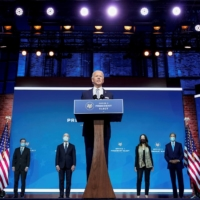 President-elect Joe Biden introduces the nominees for his national security team at his transition headquarters in Wilmington, Delaware, on Tuesday.    | REUTERS