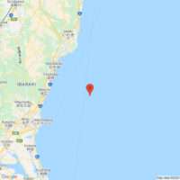 The epicenter of the earthquake that occurred on Nov. 22 at 7:06 p.m. is located in Ibaraki Prefecture   GOOGLE MAPS