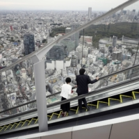 The observation deck of Shibuya Scramble Square offers a magnificent view of Tokyo. | BLOOMBERG
