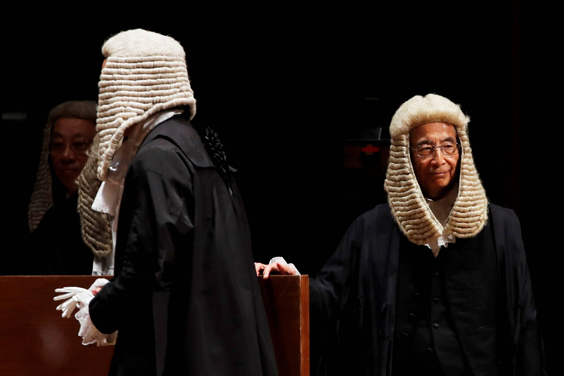 Hong Kong politician and barrister Martin Lee attends a ceremony to mark the beginning of the legal year in January 2019. | REUTERS