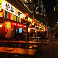 The newly opened collection of traditional Japanese pubs located at Shibuya Yokocho is part of the Miyashita Park development site. | REBECCA SAUNDERS