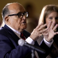 Former Mayor of New York Rudy Giuliani, a lawyer for President Donald Trump, speaks at a hearing of the Pennsylvania state Senate Majority Policy Committee last month in Gettysburg in the state. | AP