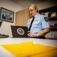 Australian Federal Police detective superintendent Paula Hudson at the Australian Centre for Child Exploitation offices in Brisbane  | AFP-JIJI