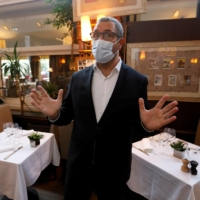 Pascal Mousset, owner of Chez Francoise and three other restaurants in Paris, is interviewed in October.  | REUTERS
