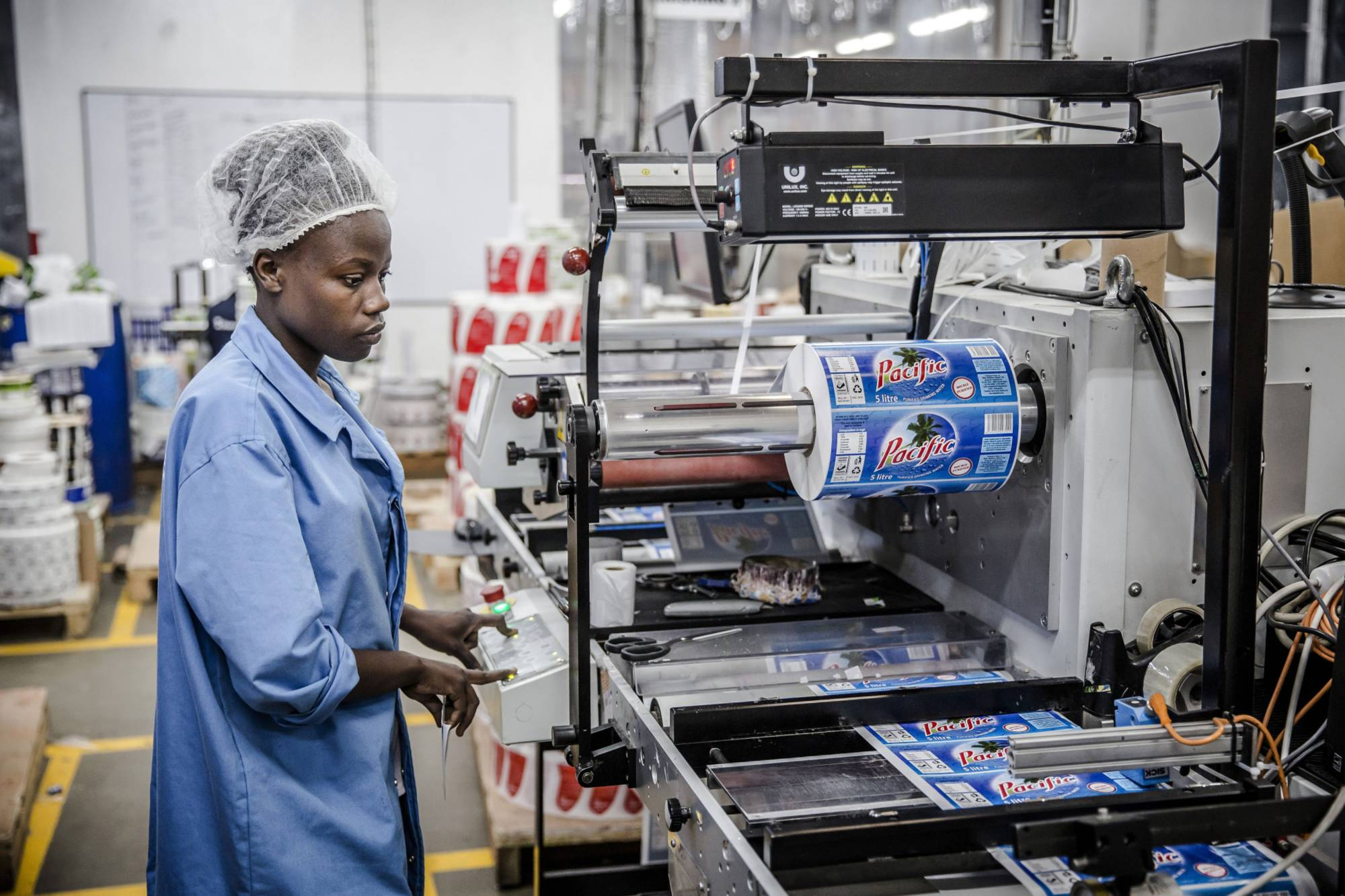 A drinking water factory in Nairobi, Kenya. What Africa needs is its own Japan or Singapore — pioneering countries that can industrialize first, and then invest in the rest of the continent.  | BLOOMBERG