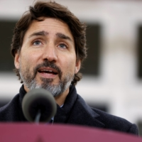Canadian Prime Minister Justin Trudeau attends a news conference at Rideau Cottage in Ottawa on Nov. 20. | REUTERS