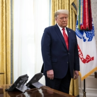 U.S. President Donald Trump in the Oval Office of the White House on Thursday. Trump has continued to denounce the results of the election.  | DOUG MILLS / THE NEW YORK TIMES