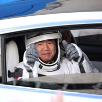 Astronaut Soichi Noguchi has been the face of Japan's recent space travel efforts, and last month he was launched to the International Space Station aboard a SpaceX Crew Dragon craft. | AFP-JIJI