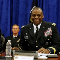 U.S. President Barack Obama joins Commander of Central Command Gen. Lloyd Austin during a briefing from top military leaders at MacDill Air Force Base in Tampa, Florida, in 2014. | REUTERS