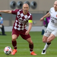Andres Iniesta drives Kobe into ACL quarterfinals; Marinos eliminated