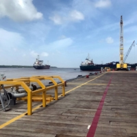 Vessels carrying supplies for an offshore oil platform operated by Exxon Mobil in Guyana | REUTERS