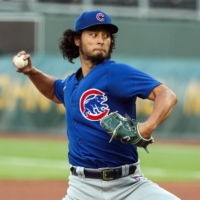 Cubs starter Yu Darvish pitches against the Royals in Kansas City, Missouri, on Aug. 5. | USA TODAY / VIA REUTERS