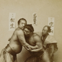 Wrestle mania: One of the earliest photographs of sumo wrestlers, taken around 1868-71 by Shimooka Renjo | TOKYO PHOTOGRAPHIC ART MUSEUM