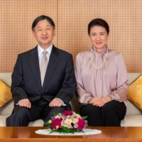 Emperor Naruhito and Empress Masako in Tokyo on Dec. 3, ahead of the empress's 57th birthday on Wednesday | IMPERIAL HOUSEHOLD AGENCY OF JAPAN / VIA REUTERS