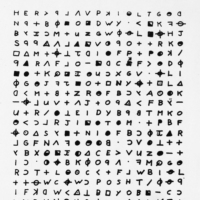 A copy of a cryptogram sent to the San Francisco Chronicle in 1969 by the Zodiac Killer  | SAN FRANCISCO CHRONICLE / VIA AP