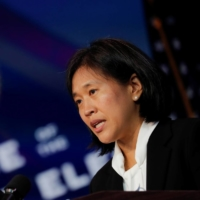 Katherine Tai, U.S. President-elect Joe Biden's nominee to be U.S. trade representative, speaks after Biden announced her nomination during a news conference at transition headquarters in Wilmington, Delaware, on Friday. | REUTERS