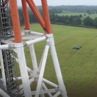 NTT DOCOMO's engineers used drones to inspect 1,000 base stations and collect data last year. | NTT DOCOMO INC.