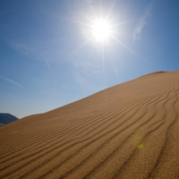 The Tottori Sand Dunes are the largest sand dunes in Japan, stretching 16 kilometers from east to west and 2 kilometers from north and south.
