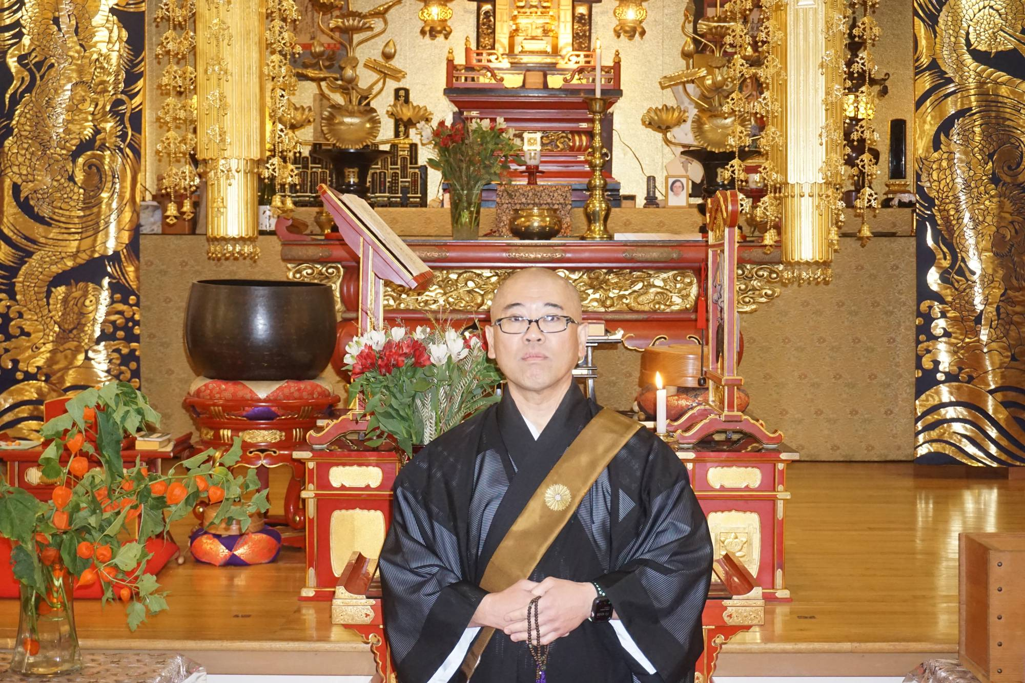 Eisai Ikenaga is the reverend of Nichiren Buddhist Temple of Portland, Oregon, a state that has seen rising cases of COVID-19 since the start of October. | COURTESY OF EISAI IKENAGA