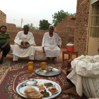 Even during Ramadan, when men would traditionally have breakfast with neighbors and friends on the street, everyone in Khartoum stayed home. | COURTESY OF AKANE ELTAYEB