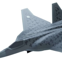 A computer-generated image of Japan's next-generation fighter jet, which will replace the F-2 | DEFENSE MINISTRY / VIA KYODO