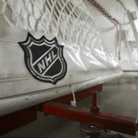 Goals used by the Predators are stored in a hallway at Bridgestone Arena in Nashville, Tennessee on March 12. | AP