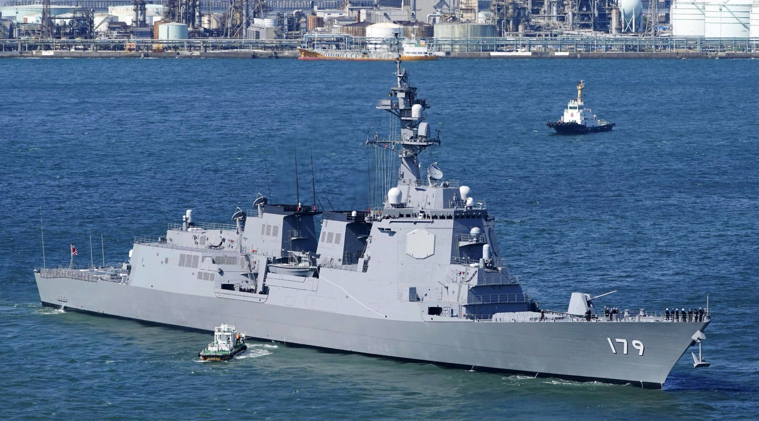 The Maritime Self-Defense Force's Aegis-equipped destroyer Maya in Yokohama in March | KYODO