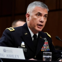 National Security Agency Director Gen. Paul Nakasone testifies to the Senate Intelligence Committee hearing about 'worldwide threats,' on Capitol Hill in Washington in January 2019. | REUTERS