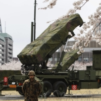 Patriot Advanced Capability-3 land-to-air missiles are deployed at Japan's Defense Ministry in Tokyo in April 2012.  | REUTERS