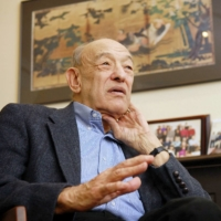 Ezra Vogel, professor emeritus at Harvard University, is interviewed in January 2019. He has died at age 90, the university said Sunday. | KYODO