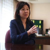 The Liberal Democratic Party's Seiko Noda speaks about challenges surrounding infertility in Japan during an interview in December. | RYUSEI TAKAHASHI