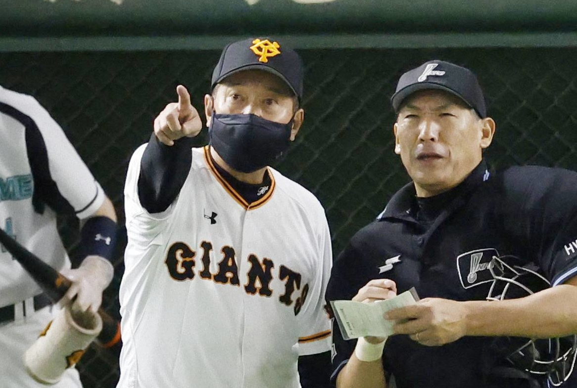 Face covers have become a common sight in the Japanese sports world this season. | KYODO