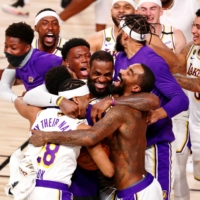 The Lakers defeated the Heat in six games to capture the NBA title on Oct. 11. | USA TODAY / VIA REUTERS