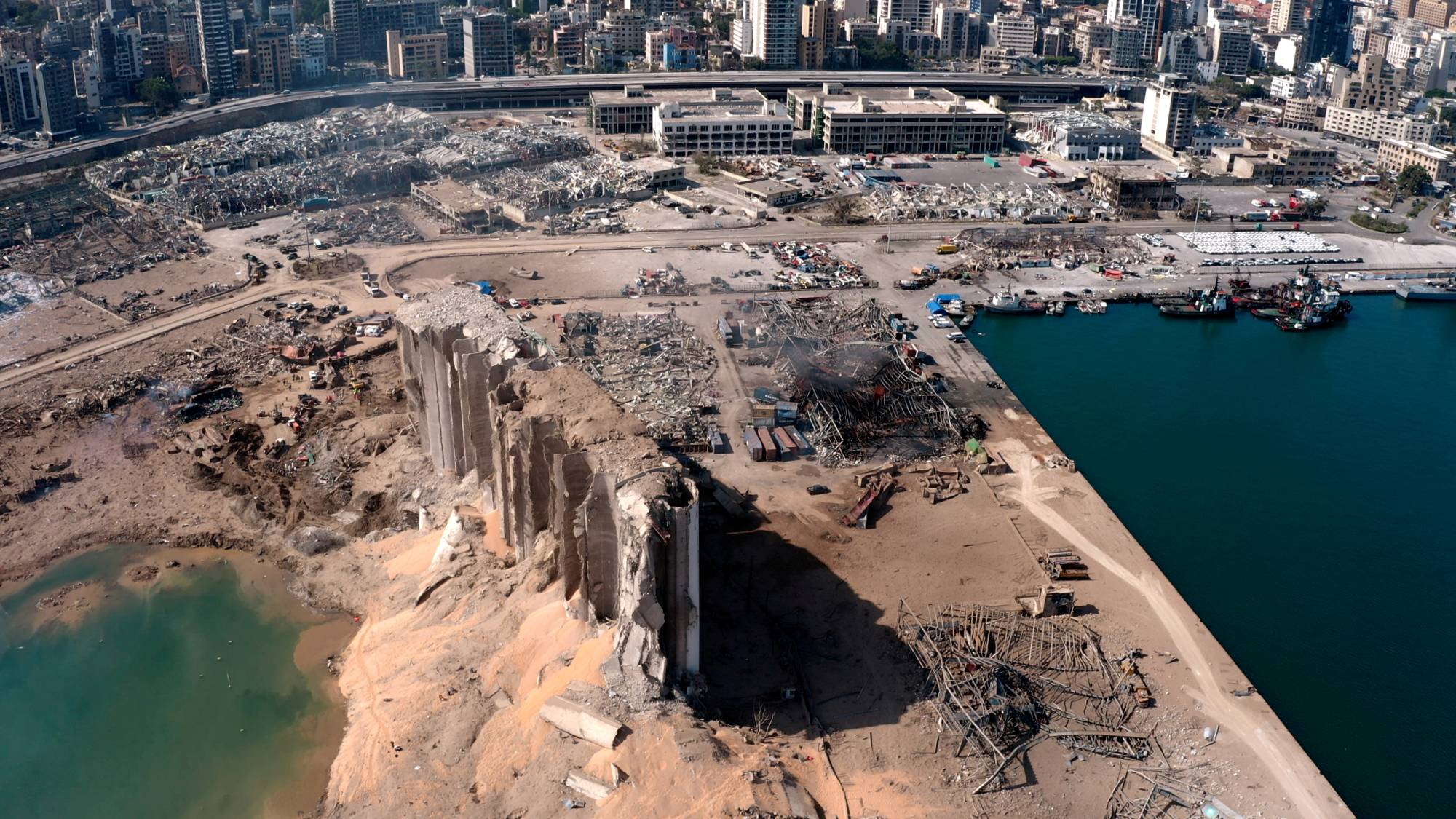 Beirut was heavily damaged by a massive explosion on Aug. 4.  | REUTERS TV / VIA REUTERS
