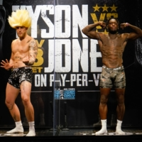 The much-hyped exhibition bout between social media personality Jake Paul (left) and former NBA player Nate Robinson drew criticism from boxing purists. | HANDOUT / VIA USA TODAY / VIA REUTERS