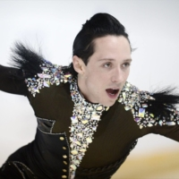 Johnny Weir performs his short program during the Finlandia Trophy Espoo in Espoo, Finland, on Oct. 5, 2012. | REUTERS