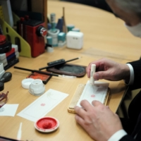 One-of-a-kind hanko seals help prevent forgeries of important financial transactions, as well as scams.   RYUSEI TAKAHASHI