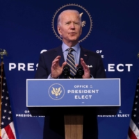 U.S. President-elect Joe Biden delivers remarks on national security and foreign policy at his transition headquarters in Wilmington, Delaware, on Monday.  | REUTERS