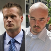 Blackwater guards (from left) Dustin Heard, Evan Liberty, Nicholas Slatten and Paul Slough. The four who were pardoned by U.S. President Donald Trump this month were former government security contractors convicted in a 2007 massacre in Baghdad that left more than a dozen Iraqi civilians dead. | AP