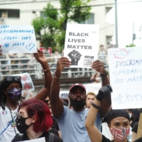 Speaking up: People march in support of Black Lives Matter in Tokyo in June.  | RYUSEI TAKAHASHI