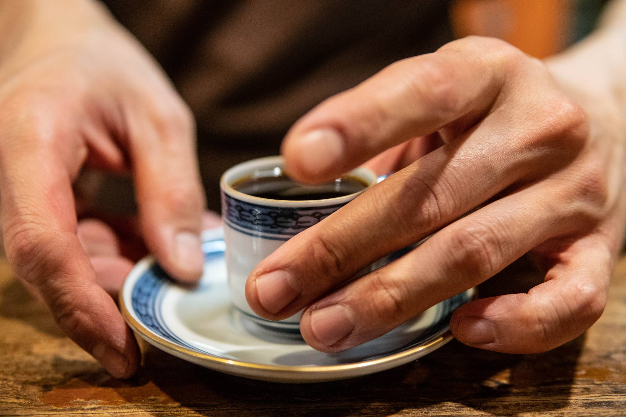 Straight coffee: Fujihiko Hayashi, the master at the iconic Cafe de L'Ambre in Ginza, serves coffee in a small porcelain cup. | TOMMASO BARBETTA