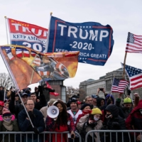 Supporters of U.S. President Donald Trump protest outside the Capitol in Washington on Wednesday.  | AFP-JIJI