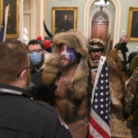 Supporters of U.S. President Donald Trump enter the Capitol in Washington on Wednesday. | AFP-JIJI