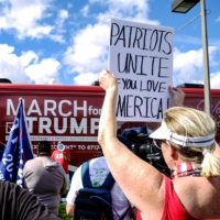 The March for Trump bus tour kicks off at Doral Central Park in Doral, Florida, on Nov. 29. | REUTERS