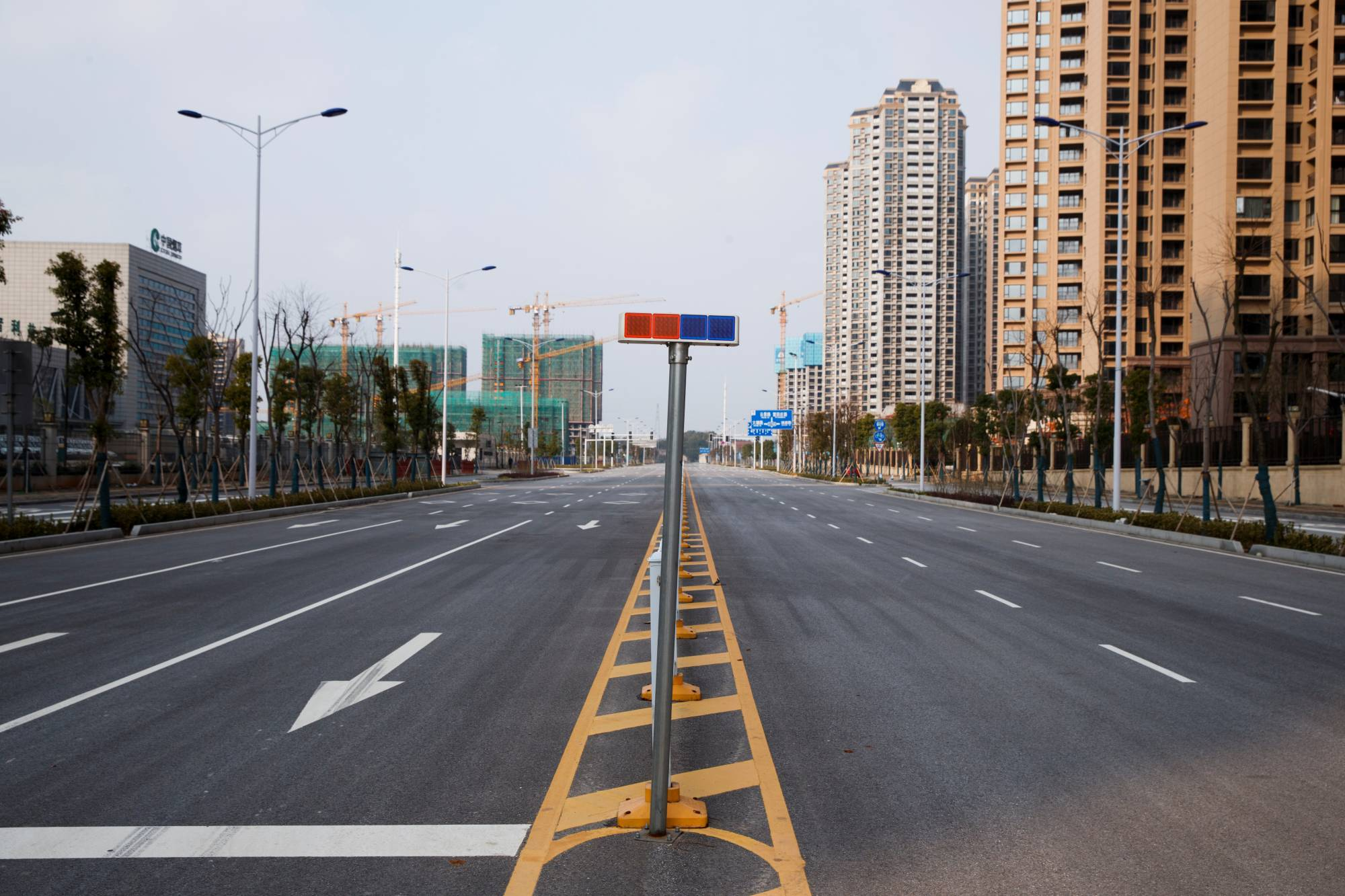 An empty street in Yueyang, Hunan province, in January last year, amid the partial lockdown of neighboring Hubei province | REUTERS