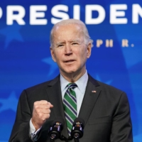 U.S. President-elect Joe Biden introduces key members of his White House science team at his transition headquarters in Wilmington, Delaware, on Saturday.  | REUTERS
