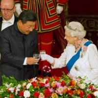 London was seen to be cozying up to Beijing under the leadership of then-Prime Minister David Cameron, culminating in a meeting between Chinese President Xi Jinping and Queen Elizabeth II in 2015. | POOL / VIA REUTERS