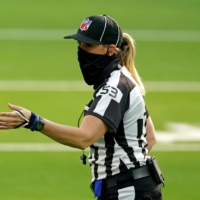 Sarah Thomas, who in 2015 became the NFL's first full-time female official, has been named to the officiating crew for Super Bowl LV next month in Tampa, Florida. | USA TODAY / VIA REUTERS