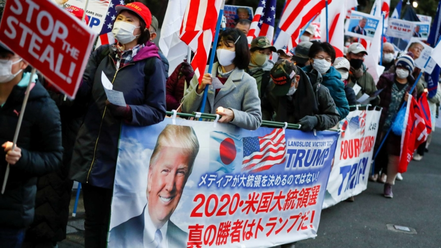 Trump supporters rally in Tokyo against Biden's inauguration